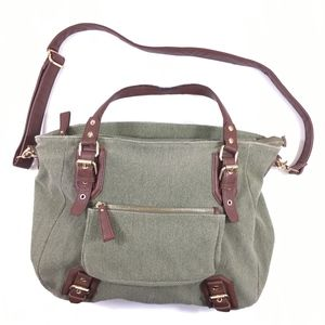 BDG Green Tweed Crossbody School Bag